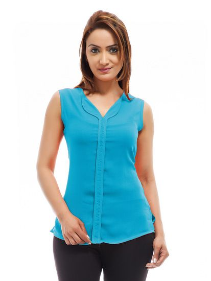 e7e57a3fca0a9c Sky Blue color Casual Top - Femninora Tops and tunics for women | buy tops  and tunics online in indium