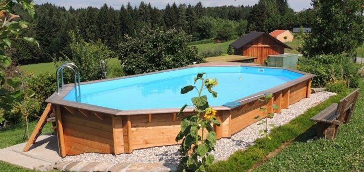 Piscine Bois Aquabelle Ubbink Allongee En Kit 750x400xh130 Cm Liner Bleu Piscine Bois Modele De Piscine Et Piscine