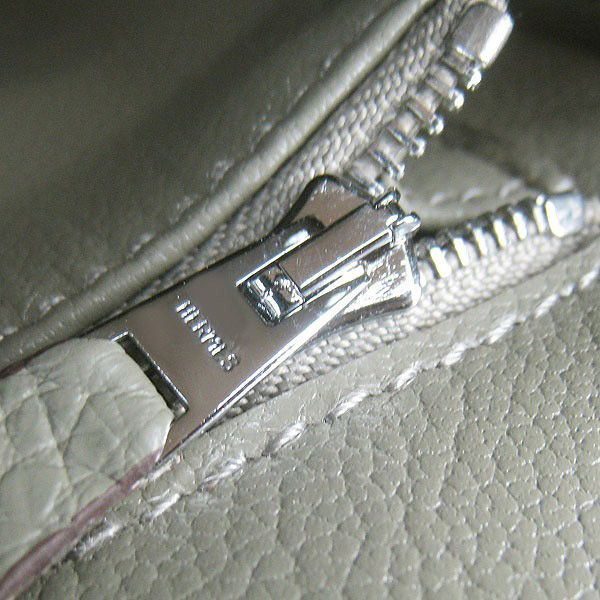 b9ca9c9cf7f3 Hermes Birkin 30cm Togo leather Handbags dark grey silver 2 hunting ...