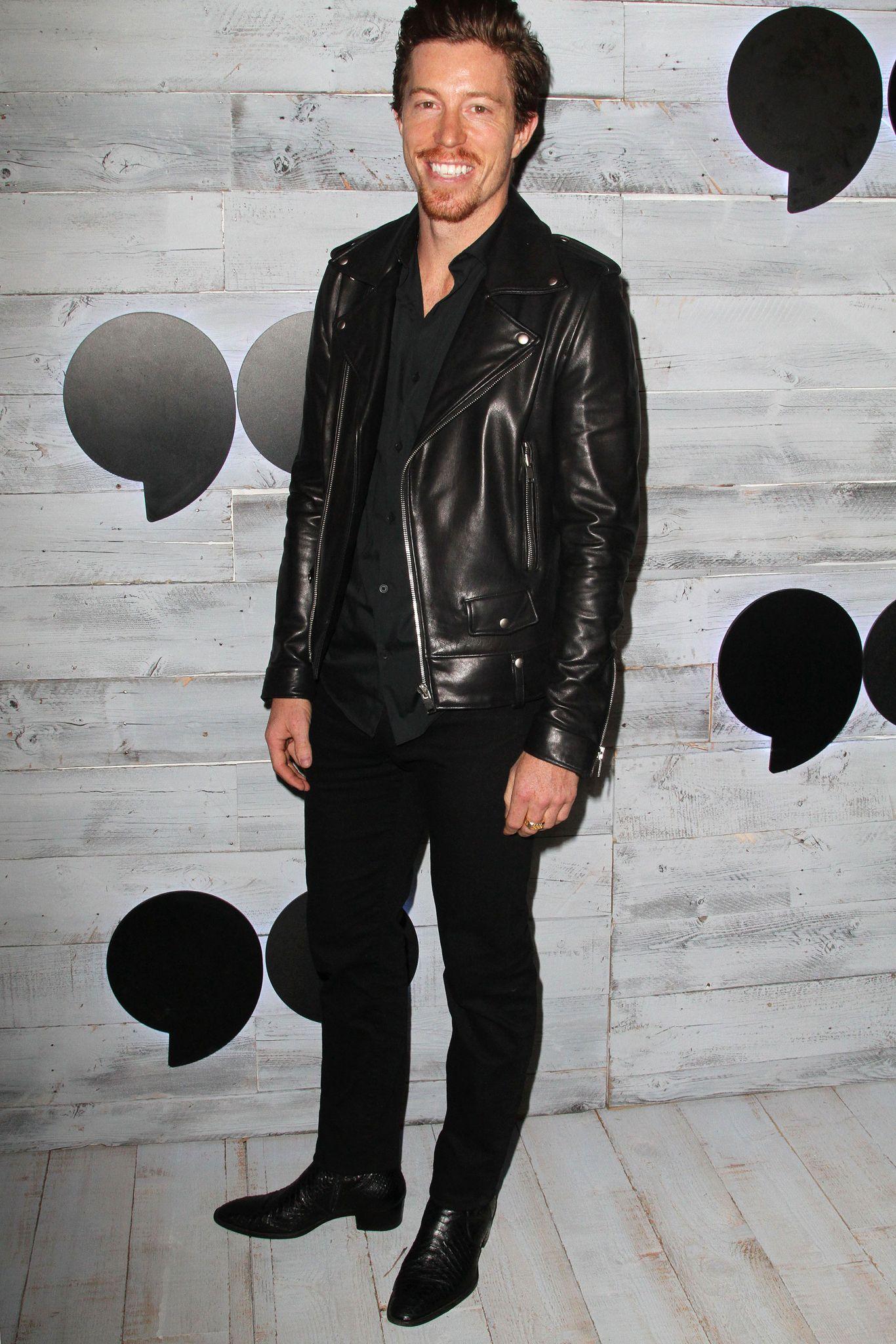 Black Leather Jacket Leather Jacket Shaun White [ 2048 x 1366 Pixel ]