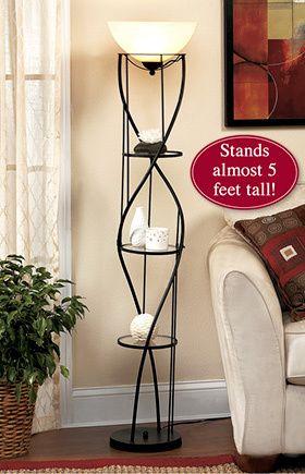 Display Shelf Floor Lamp