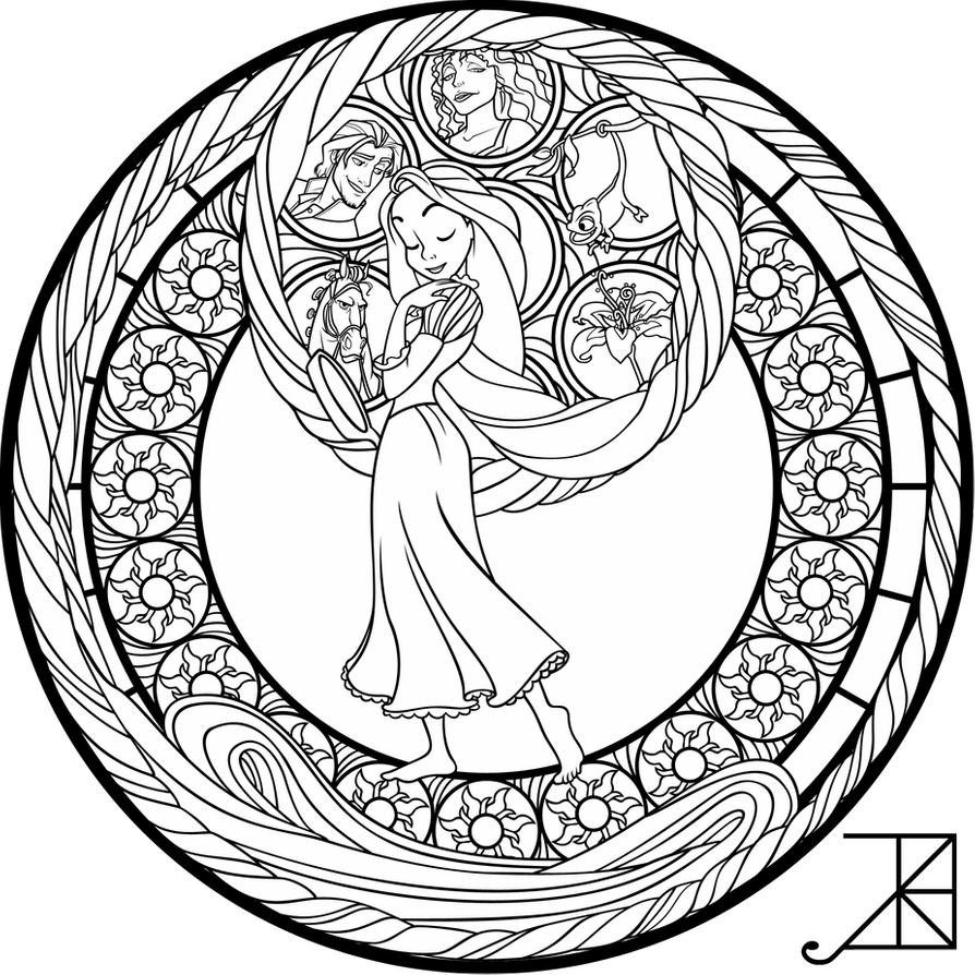 Sg Rapunzel Coloring Page By Akili Amethyst On Deviantart Rapunzel Coloring Pages Mandala Coloring Pages Mandala Coloring Books [ 894 x 894 Pixel ]