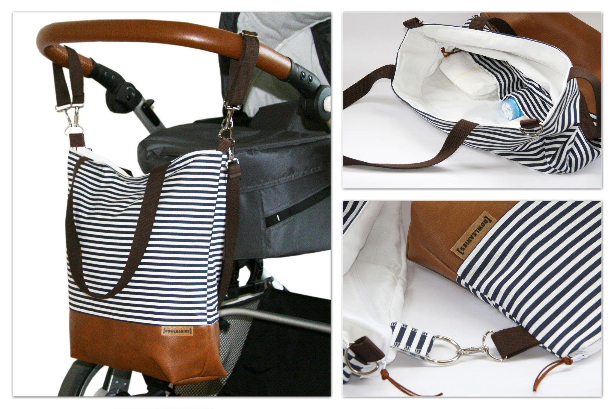 Wickeltasche, Kinderwagentasche, Bowleanies, handmade, Tasche, Leder ...
