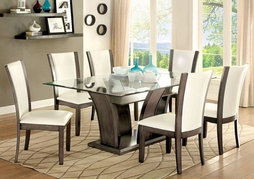 Best Master Furniture Square Glass Dining Table Silver Square Glass Dining Table Glass Dining Table Glass Dining Table Set