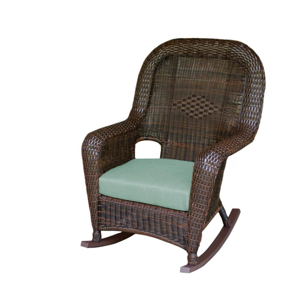 Amazing Tortuga Outdoor Sea Pines Java Wicker Outdoor Rocking Chair Unemploymentrelief Wooden Chair Designs For Living Room Unemploymentrelieforg
