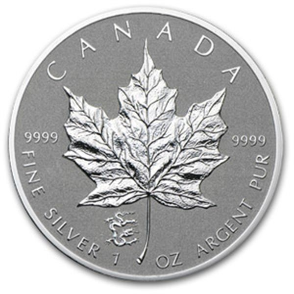 2012 Canada 1 Oz Silver Maple Leaf Dragon Privy Rcm Silver Maple Leafs W Privy Marks Uncirculated Apmex Silver Maple Leaf Silver Coins Silver Bullion