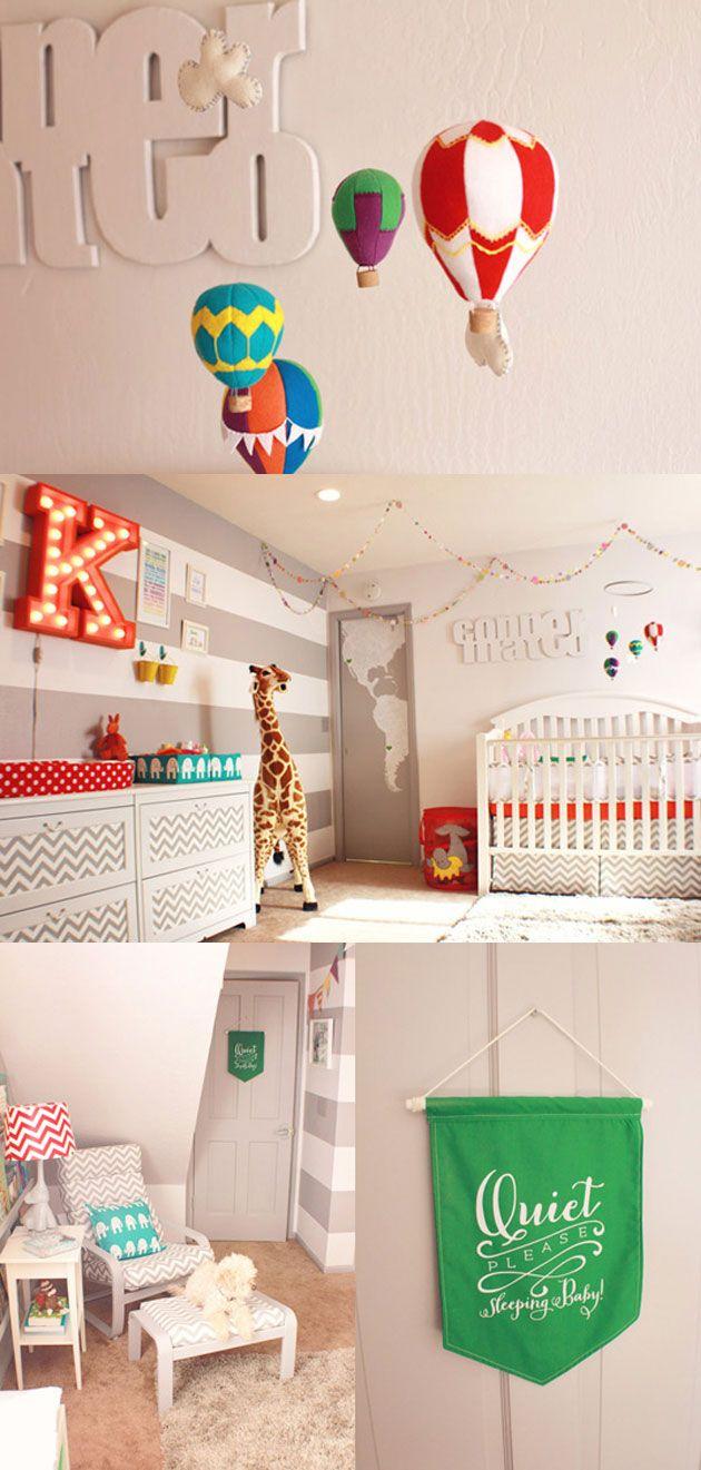 deco chambre enfant cirque www.creations-savoir-faire.com