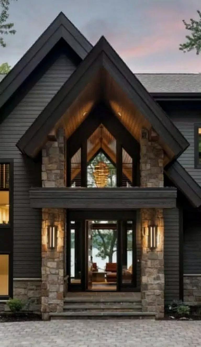 25 Most Popular Modern Dream House Exterior Design Ideas Populardreamhouse Dreamhousedecor Dr Rustic Houses Exterior Modern Lake House Dream House Exterior