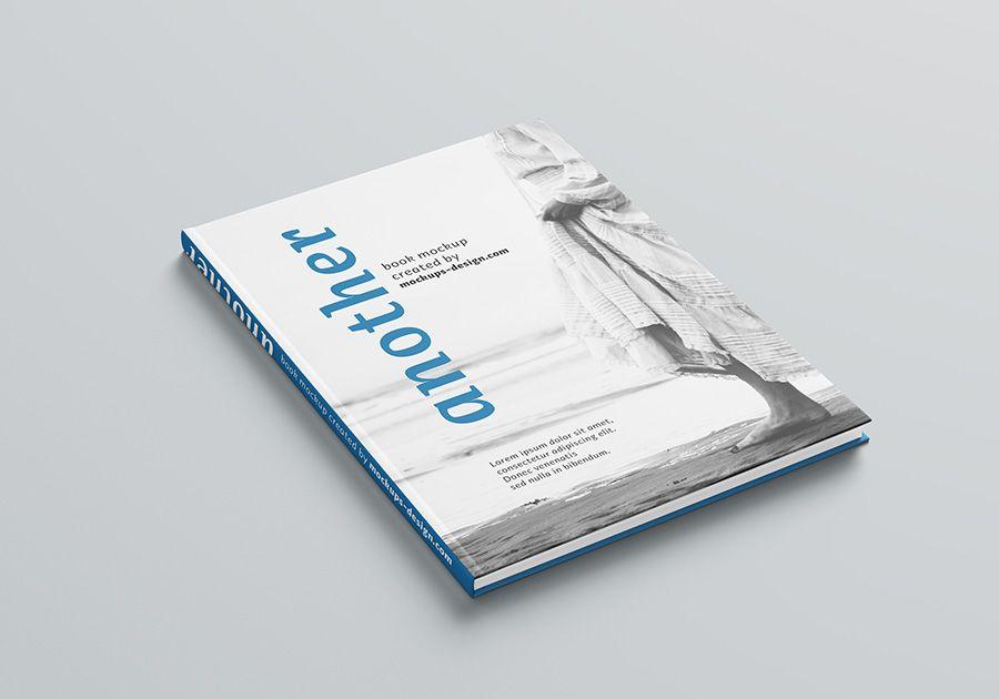 Free A4 Hardcover Book Mockup Book Cover Mockup Free Book Cover Mockup Minimal Book