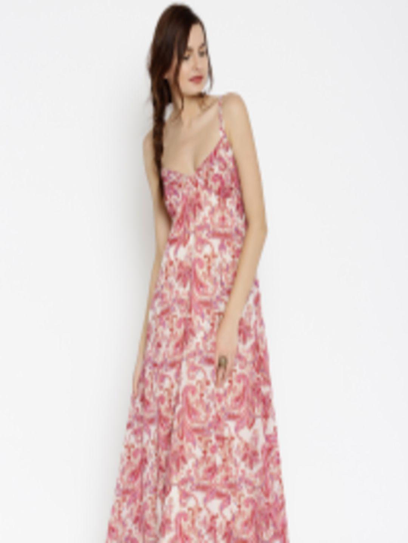 81a6029c7db Buy SASSAFRAS Women Pink   Beige Printed Maxi Dress - Dresses for Women