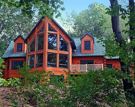 Plan W28201bf Spectacular Window Wall E Architectural Design Vacation House Plans Log Cabin House Plans Cabin House Plans