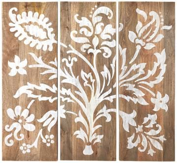 Faria Wood Wall Panel   Set Of 3  40x14 (ea, I Think)  $209 For Set  Home  Decorators  Donu0027t Know Location Of Placement Yet .