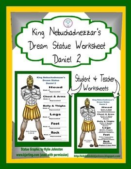 Daniel And King Nebuchadnezzars Dream Worksheet Freebie Added To TPT Student Teachers Answer