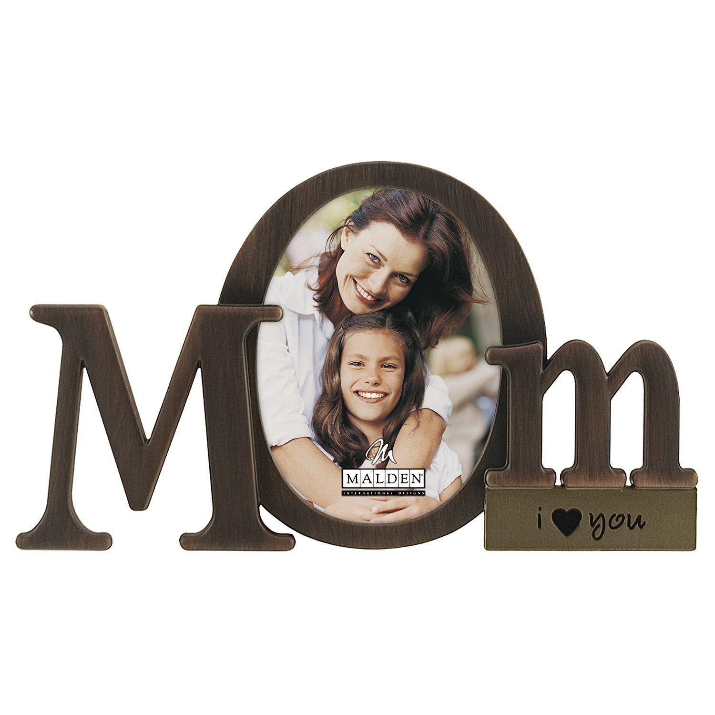 Malden International Designs Bronze Script Mom Picture Frame ...