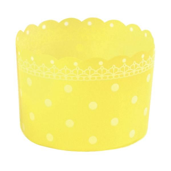 Welcome Home Brands Plastic Baking Cups- Polka Dot Yellow