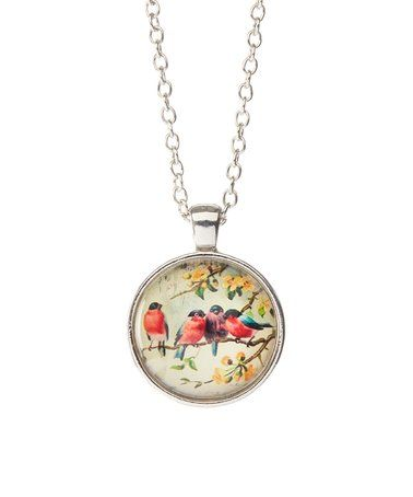 Another great find on #zulily! Silvertone Vintage Birds Pendant Necklace #zulilyfinds