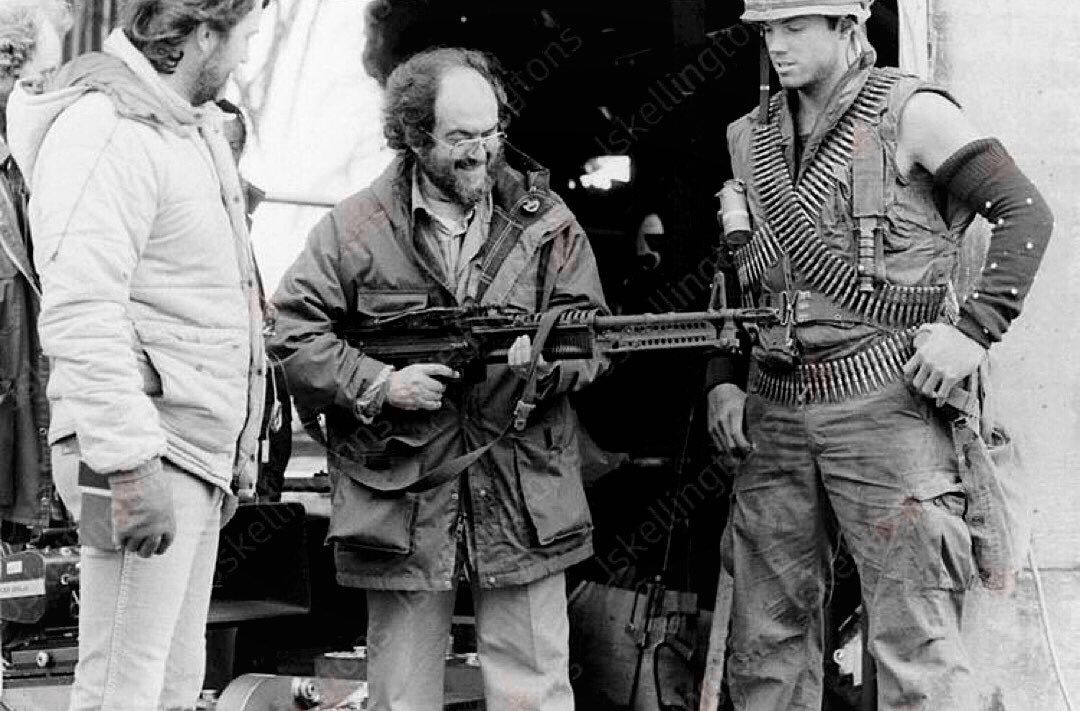 Stanley Kubrick On The Set Of Full Metal Jacket Full Metal Jacket Stanley Kubrick Kubrick