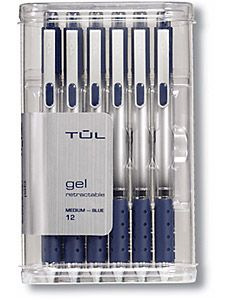 Retractable gel, fine point TUL pens are probably the best ever made.