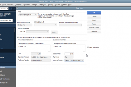 Non Inventory Part Items In Quickbooks Desktop Pro Instructions Quickbooks Quickbooks Tutorial Quickbooks Pro