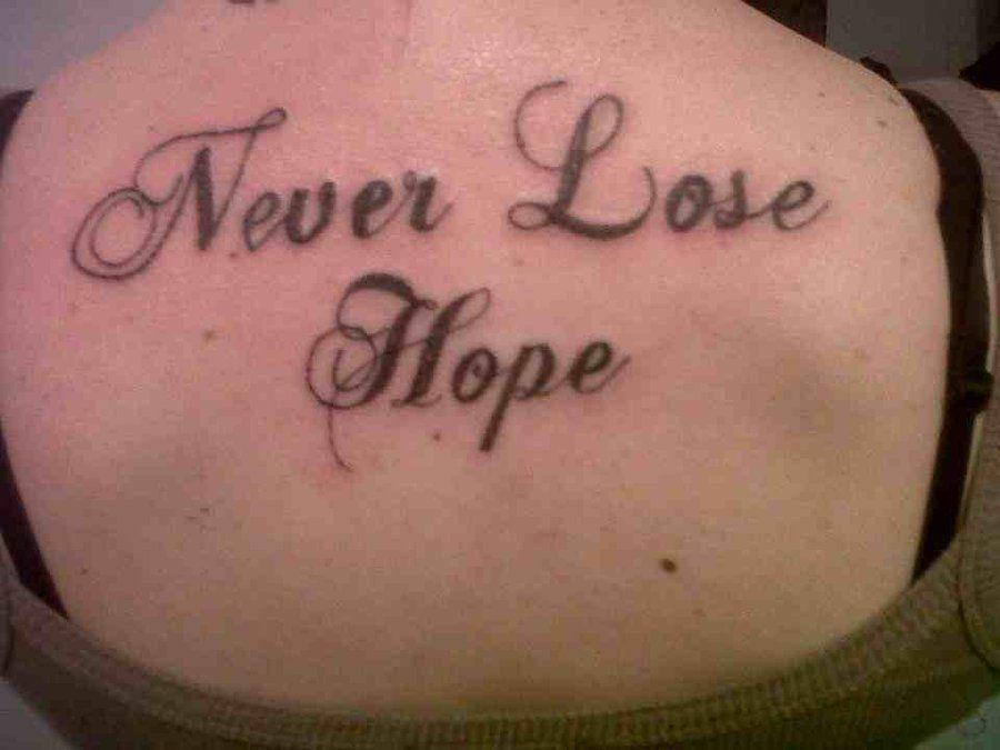 8 Amazing Ideas Of Hope Tattoo For Girls Hope Tattoo Best