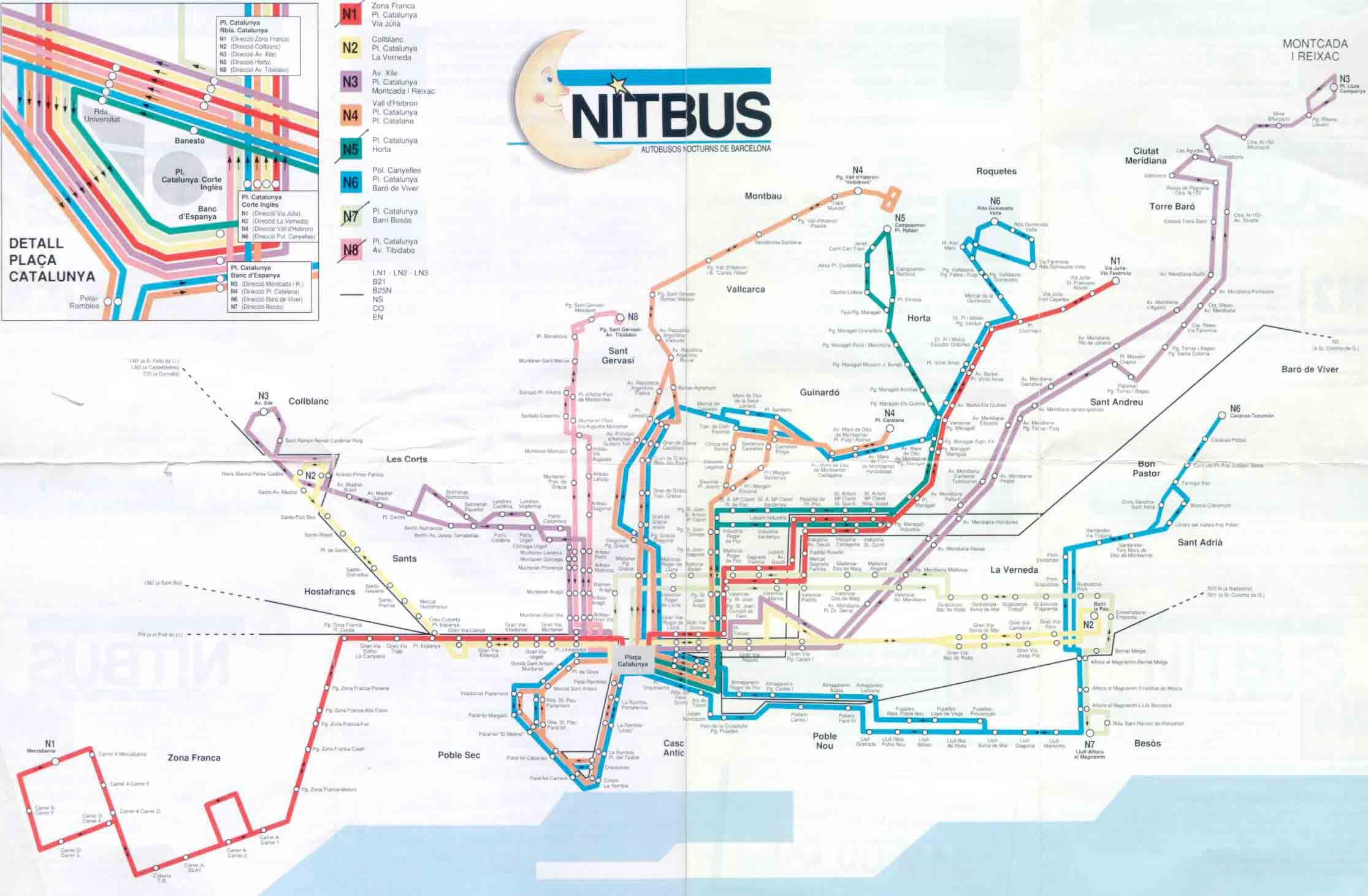 Nit Bus Barcelona Liniasbus Transportbarcelona