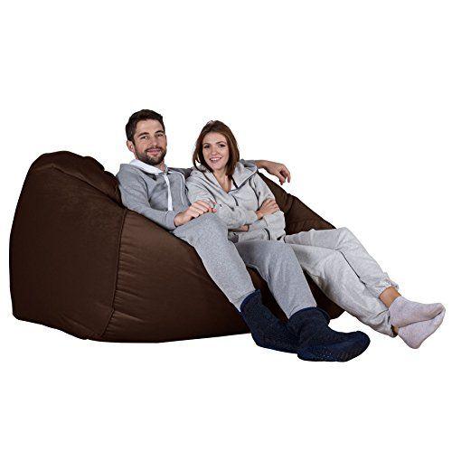 Lounge Pug Velvet Giant Bean Bag Sofa Beanbag Sofa Uk