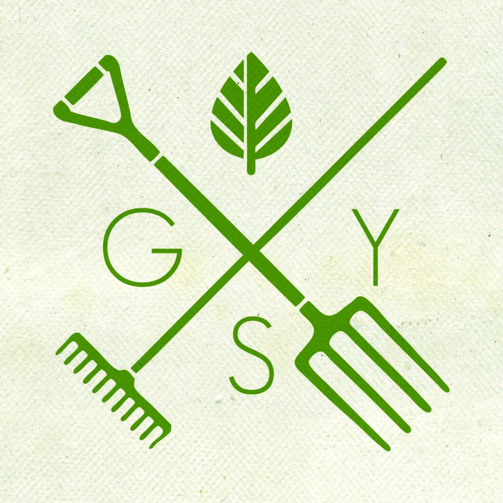 Gellos Yard Services Green Criss Cross Lawn Care Logo