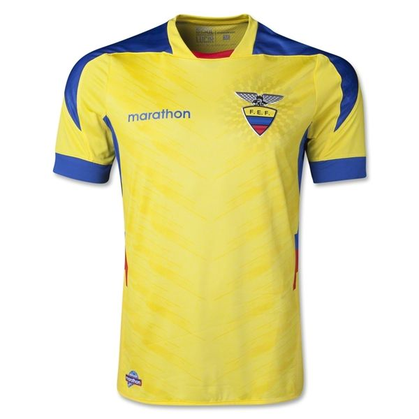 Ecuador 2014 Authentic Home Soccer Jersey Worldsoccershop Com World Soccer Shop World Cup Teams Soccer Jersey