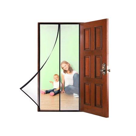 Magnetic Screen Door With Heavy Duty Mesh Curtain Full Frame Fits Door Up 46 Inchx82 Inch Instant Bug Mesh Self Seal Easy Open Screen Door Magnetic Screen Door