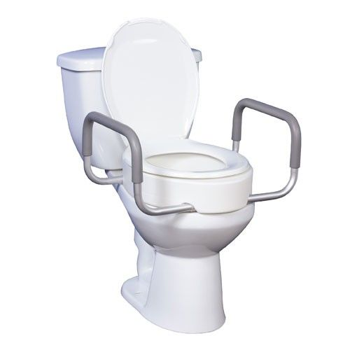 Raised Toilet Seat With Removable Arms Di 2020 Dengan Gambar