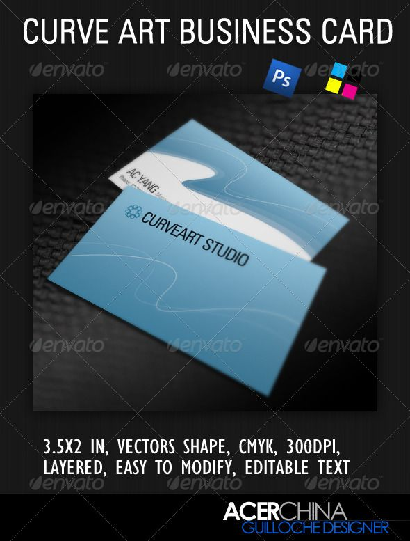 Curve art business card business cards curves and vector shapes curve art business card reheart Image collections