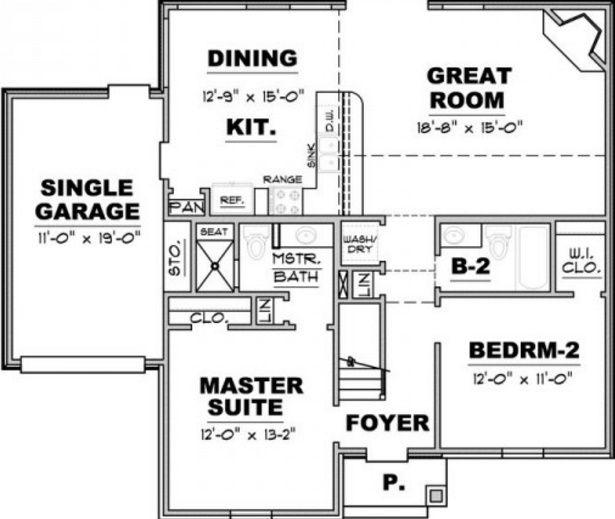 Planos de casas de un piso con 2 dormitorios planos for Planos para casas de un piso