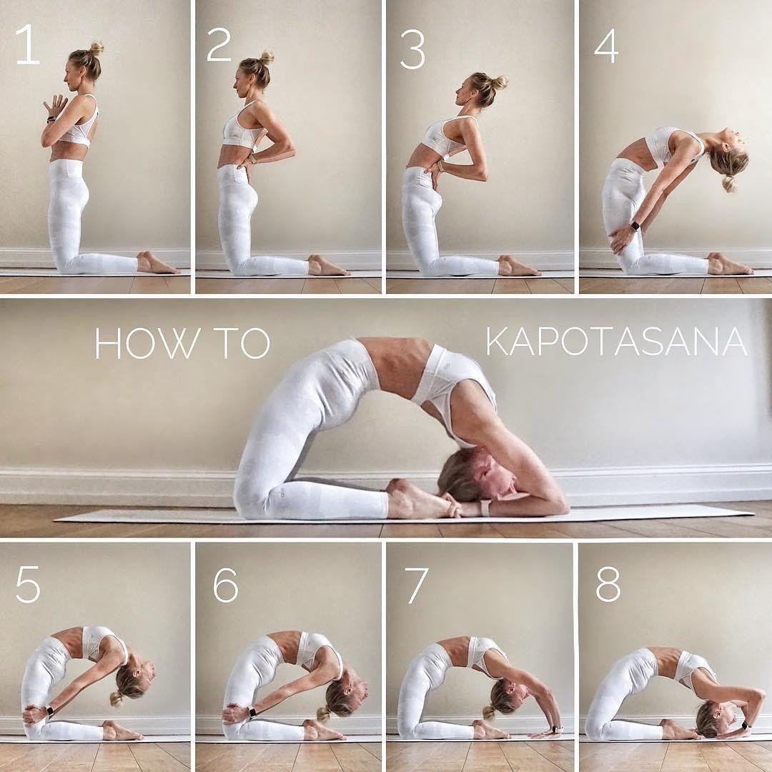 Follow ☘️#Repost How to: Kapotasana on #tutorialtuesday This pose has always been my personal nemesi