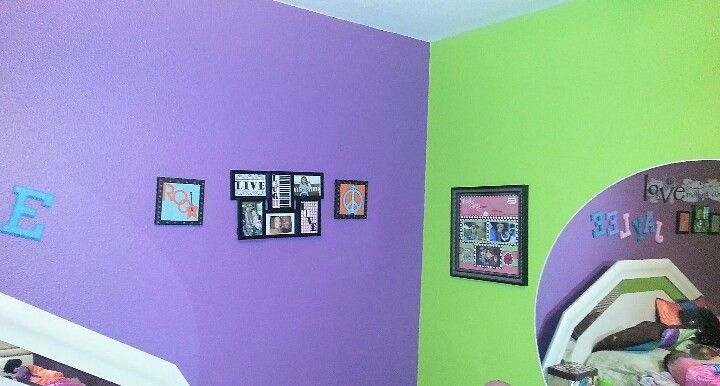 Lime And Purple Bedroom