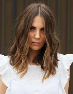 Un wavy sur carré long Cheveux wavy les 30 plus belles