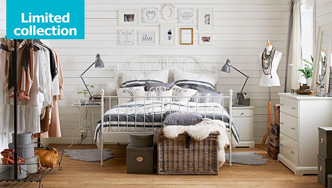 Limitierte KEJSARKRONA Kollektion jetzt bei IKEA - hier LEIRVIK - schlafzimmer landhausstil ikea