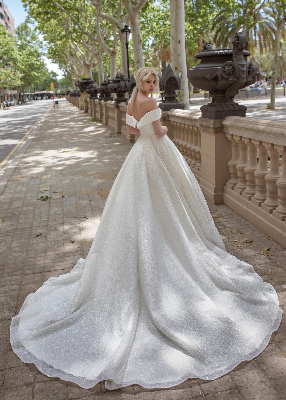 Bling Off Shoulder Wedding Dresses 20 Bride Dress With Low Back ...