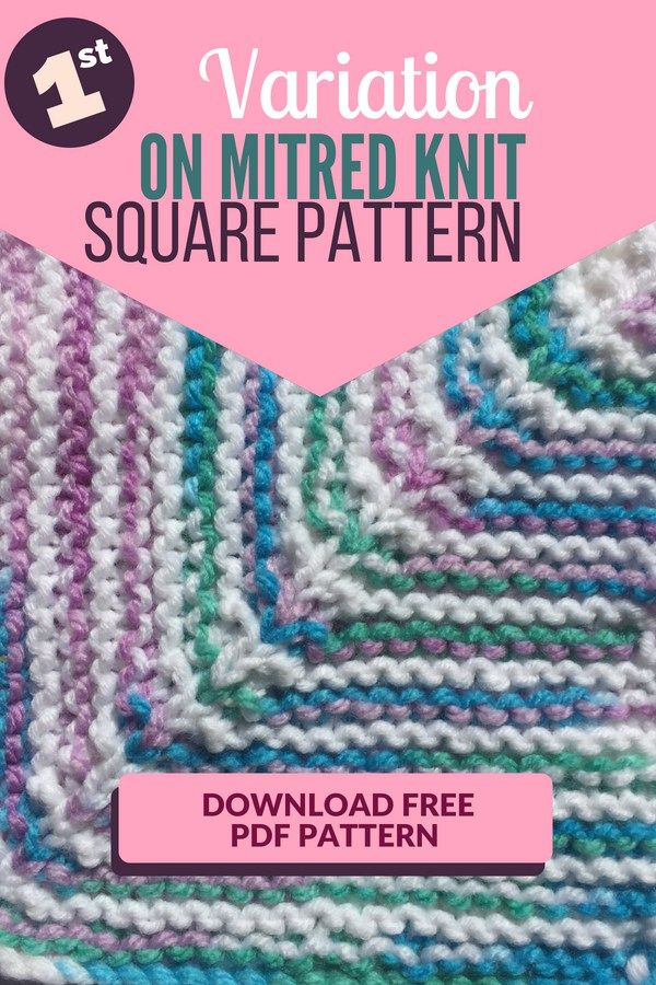 Variation Knit Square Pattern Knit A Throw With Different Colors And