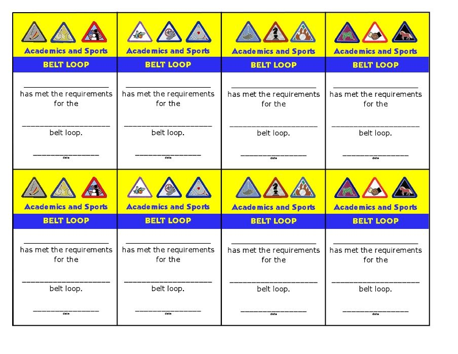 Cards for Belt Loops Scouts - Cub Scouts Pinterest Cards and - boy scout medical form