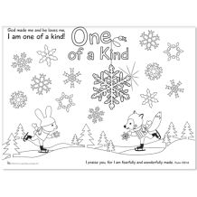 One of a Kind Coloring Poster 8.5 x 11