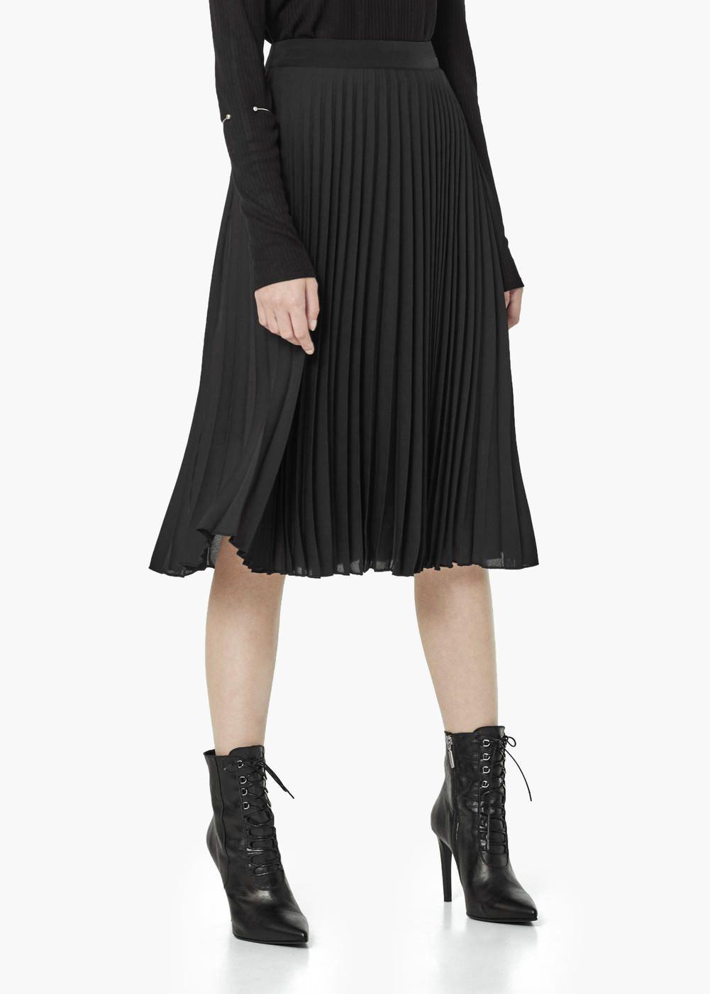 Pleated midi skirt - Skirts for Women | MANGO