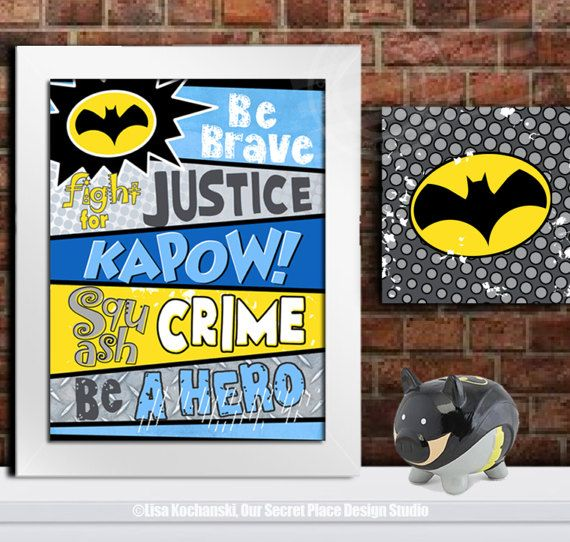 PRINT Superhero Wall Decor For Boys Superhero Rules Sign Superhero Wall Art  Superheroes Room Ideas Superheroes