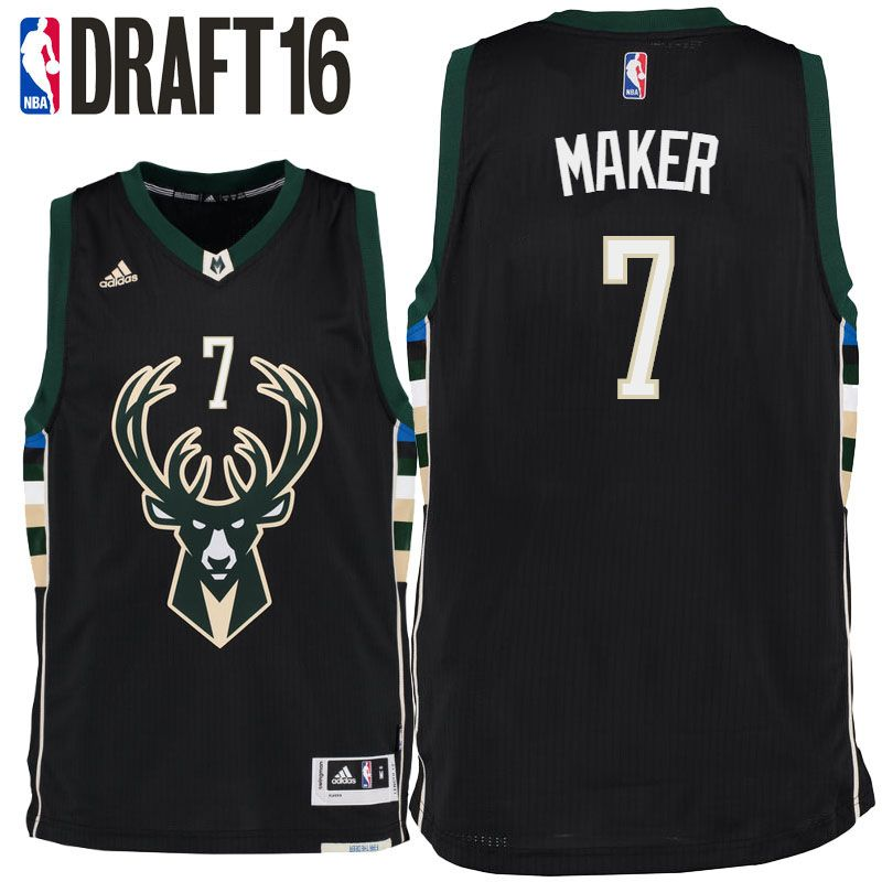 Now Buy Thon Maker Milwaukee Bucks 2016 NBA Draft Alternate Black Jersey  For Sale Save Up From Outlet Store at Footseek.