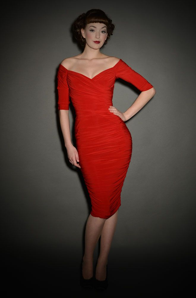 Monica - the ultimate 50's red wiggle dress - back in stock at ...