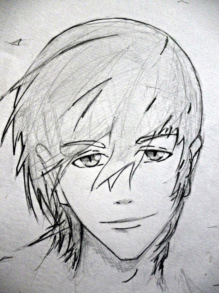 simple cute guy drawing Anime