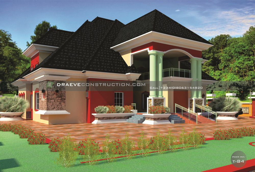 8 Bedroom Bungalow With Penthouse 08063154820 Honey Design Ughelli In Modern Penthouse Modern Bungalow House Plans Modern Bungalow House Bungalow House Plans