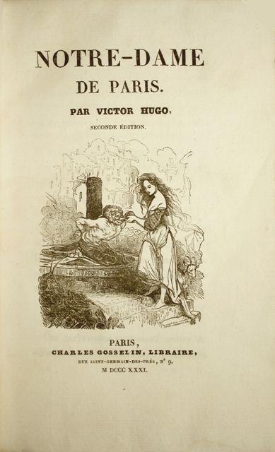 Hugo Notre Dame Paris Edition Originale Livre Rare Paris
