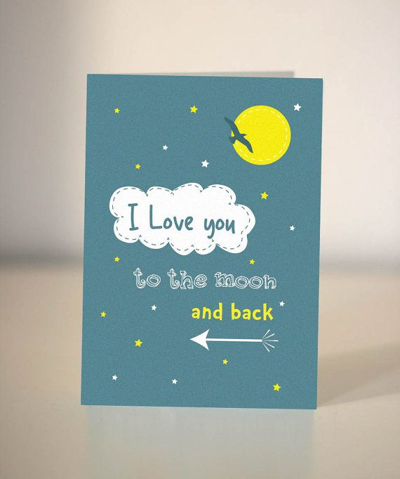Love You To The Moon And Back Card Valentine S Card Etsy Farewell Cards Cards For Boyfriend Card Template
