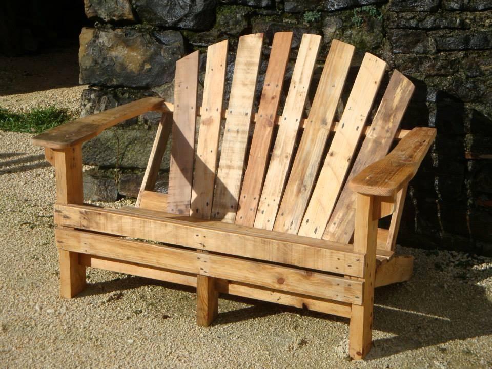 DIY Pallet Adirondack Chairs Set | Muebles de pallets, Carpinteria y ...