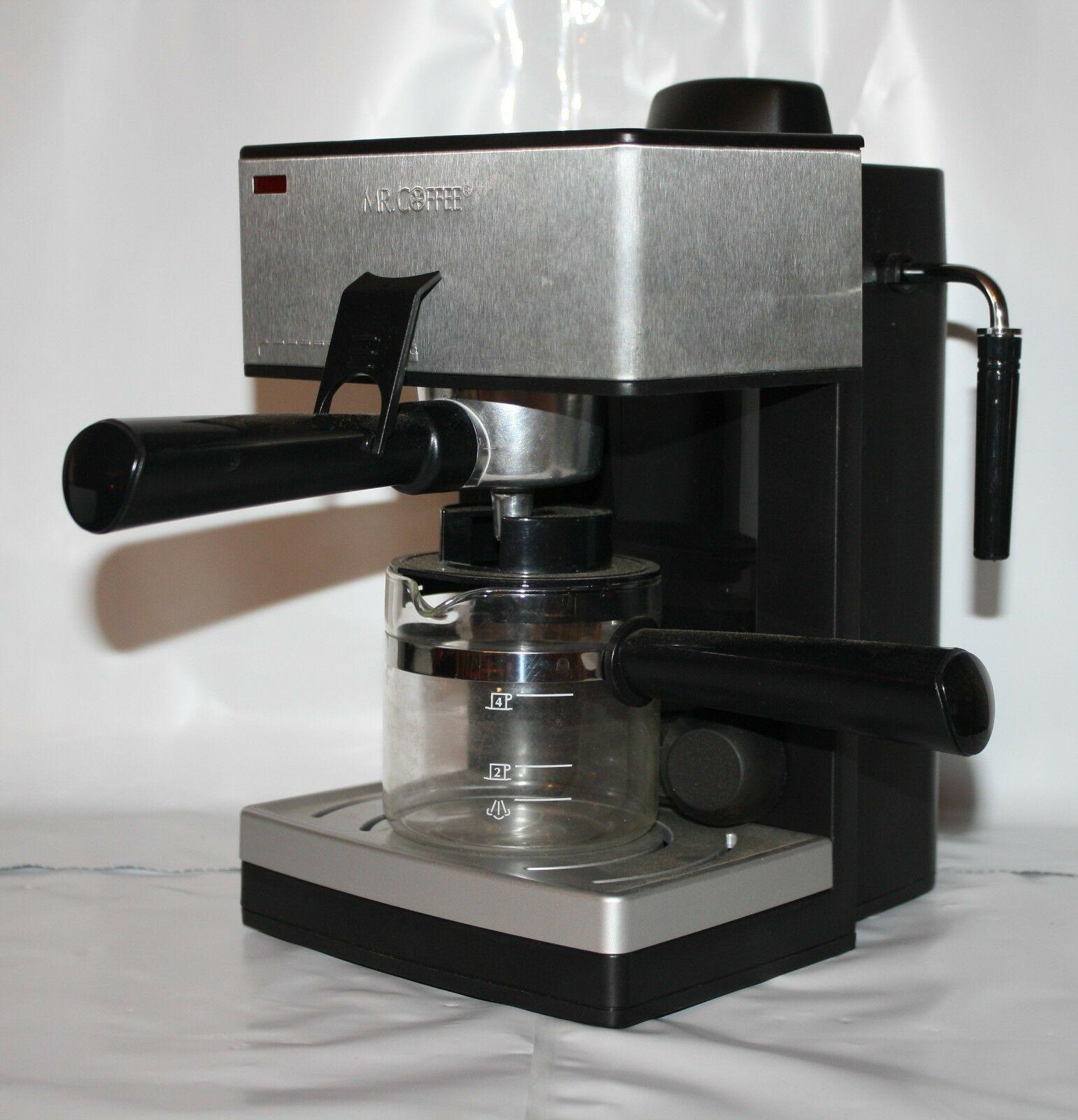 Details about Mr Coffee Steam Espresso Machine 4 Cup